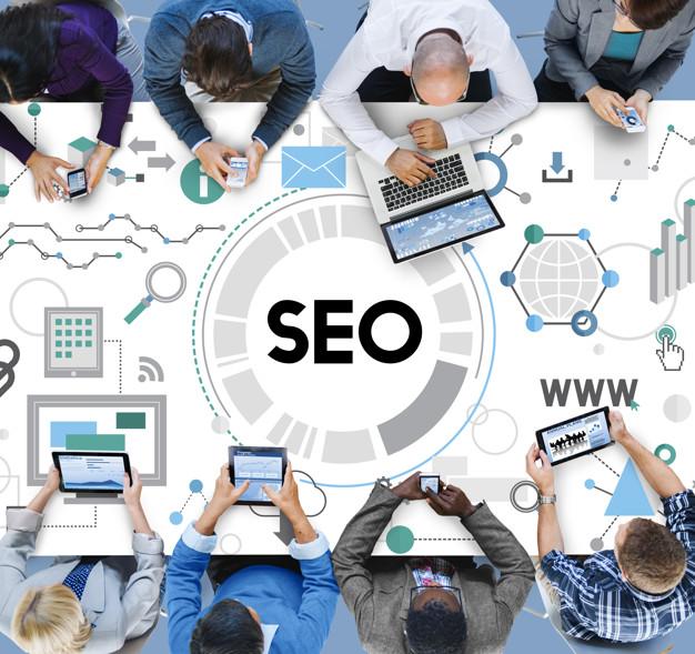 SEO: Searching engine optimisation local seo marketing concept image