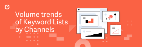 Volume trends of Keyword Lists by Channels