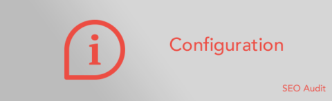 SEO audit configuration