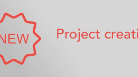 New project creation window