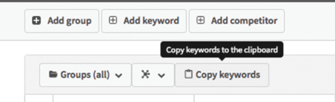 SEO Rank tracking – Copy your keywords to the clipboard