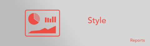 Managing the table styles of your reports
