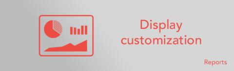 Custom reports: display customization