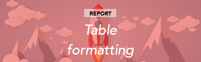 table-formatting